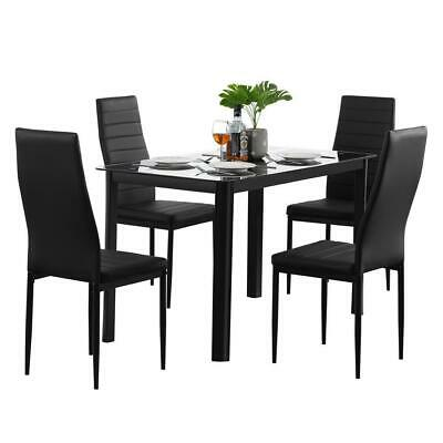 $179.89 • Buy Popular Different Style 5 Piece Dining Table Settables Glass Metal Furniture US