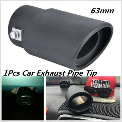 $ CDN10.32 • Buy Black 63mm Stailess Steel Car Exhaust Pipe Inlet Tips Muffler Pipe Tail Throat