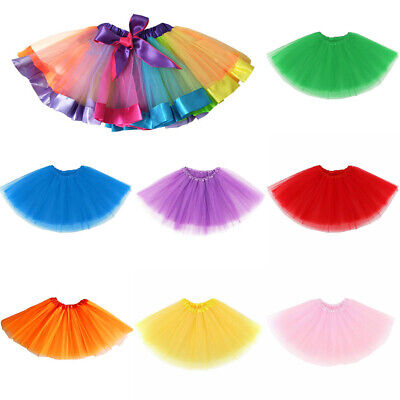16  3 Layers Tutu Skirt Petticoat Ballet Costume Fancy Dress Halloween Hen Party • 3.99£