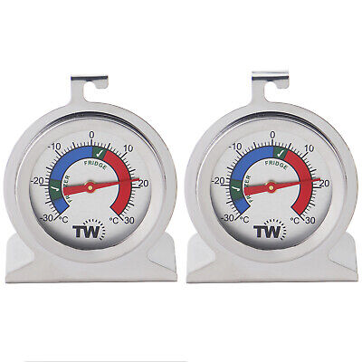 £8.95 • Buy Fridge Thermometer & Freezer Thermometer **twin Pack** Stainless Steel - In-098
