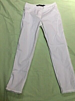 $11.99 • Buy Freestyle Revolution Sz 3 White Ankle Pants Cotton Spandex Blend Ins 26  W 15