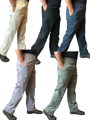 £10.99 • Buy Mens New Elasticated Lightweight Chinos Cotton Rugby Trousers Casual Work Pants
