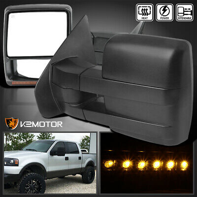 $120.06 • Buy For 2004-2006 F150 Pickup Power+Heated+LED Signal Towing Side Mirrors Left+Right