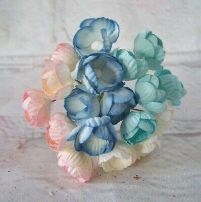 £1.99 • Buy 10x Mulberry Paper  Mini Buttercup Flowers Card Making Craft  Embellishments