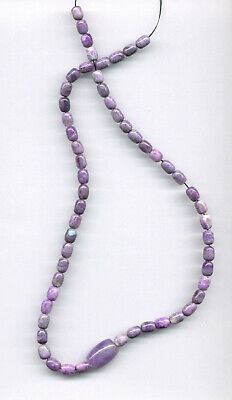 $795 • Buy SOUTH AFRICAN SUGILITE BARREL BEADS - 18.5  Strand - 1656C