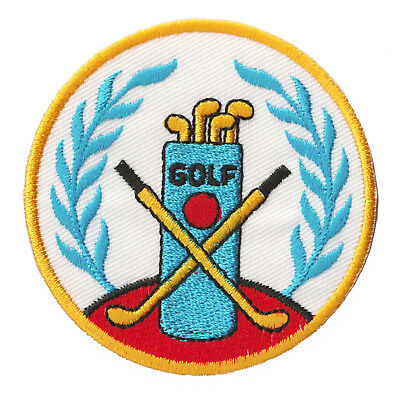 £2.96 • Buy Patch Patched Golf Club Sport Iron-On Embroidered Badge