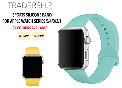 $ CDN6.07 • Buy Replacement Silicone Sports Strap Band Apple Watch Series 1/2/3/4/5/6 38/4042/44