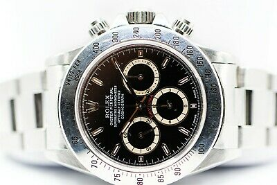 $ CDN58838.42 • Buy VERY RARE 1993 Rolex Daytona 16520 Zenith Steel Watch Patrizzi Inverted 6 Dial