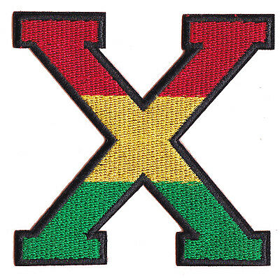Patch Patched Malcolm X Africa Rasta Iron-On Embroidered Patch • 2.80£