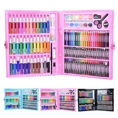 150PCS Watercolor Pen Oil Pastel Crayons Colored Pencil Art Painting With Box • 17.70£