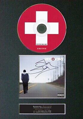 EMINEM Recovery Mounted Signed Autograph CD Print A4 #23 • 12.49£