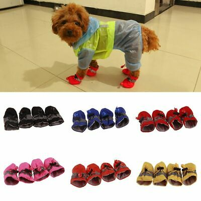 £7.04 • Buy Dog Winter Paw Boots Soft Waterproof Socks Breathable Rain Sandals Snow Shoes