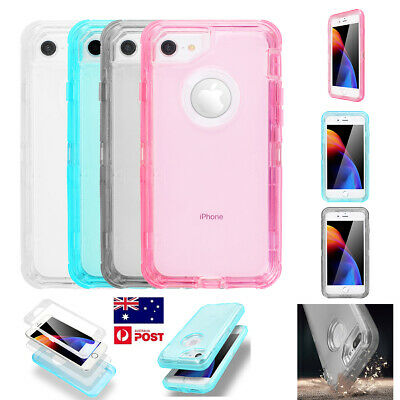 AU9.79 • Buy 3 In 1 Case Shockproof Transparent Case For IPhone XR  6 6s 7 8 Plus Dust-proof