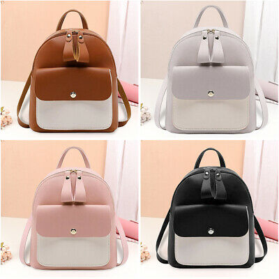 Women Small Backpack Travel PU Leather Handbag Rucksack Shoulder Bags Fashion • 4.99£