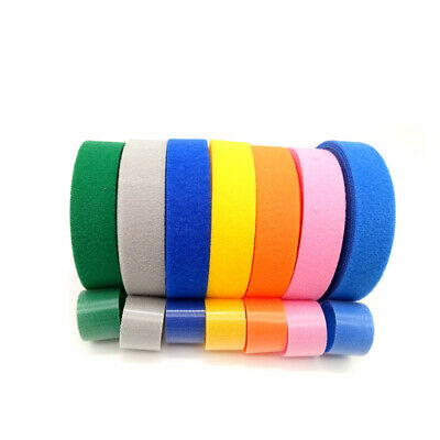 Multicolor Double Sided Hook And Loop Tape Fastener 15/20/25mm Cable Ties Strap  • 4.33£