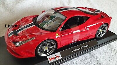 MAISTO 1:18 Scale Diecast Model Car  Ferrari 458 Speciale In Red • 46.95£