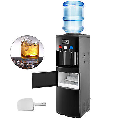 Water Dispenser W/ Built-In Ice Maker Top Load Hot & Cold Room Temperature Black • 288.99$