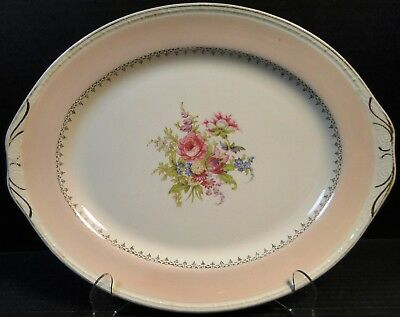 $15.99 • Buy Homer Laughlin Chateau Pink Oval Serving Platter 13 3/4  Eggshell Georgian