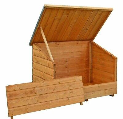 5x3 ROWLINSON GARDEN WOODEN CHEST LID SHIPLAP OUTDOOR STORAGE TIMBER WOOD STORE • 174.94£