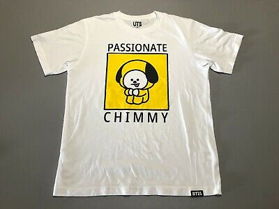 $19.99 • Buy BT21 X UNIQLO UT BTS Characters Passionate Chimmy Graphic T-Shirt Adult Size XS