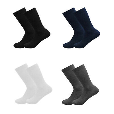 Girls Boys Plain Socks Ankle High Lycra Cotton Rich School Uniform 3 6 Pairs • 5.27£