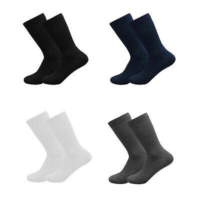 Girls Boys Plain Socks Ankle High Lycra Cotton Rich School Uniform 3 6 Pairs • 2.97£