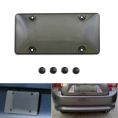 $4.99 • Buy Car Clear Tinted License Plate Cover Smoked Bubble Shield Tag Black Accessories