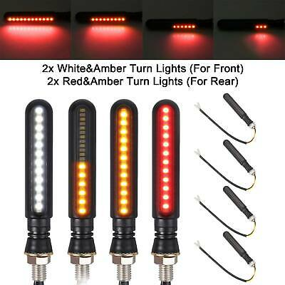 4X24LED Motorcycle Sequential Flowing Turn Signal Light Indicator Amber Lamp • 7.99£