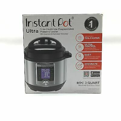 $108 • Buy Instant Pot Ultra 10-in-1 Programmable Pressure Cooker 3qt - Silver