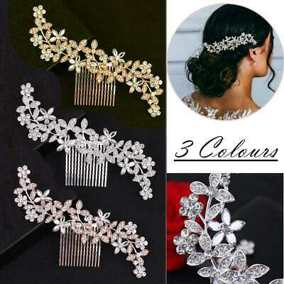 $ CDN7.07 • Buy Wedding Diamante Crystal Hair Comb Pins Clips Rhinestone Bridal Hair Accessories