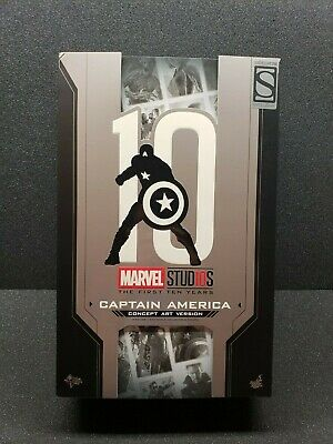 $ CDN46.76 • Buy BOX ONLY!  Hot Toys First 10 Years Concept Captain America Artbox Black Suit