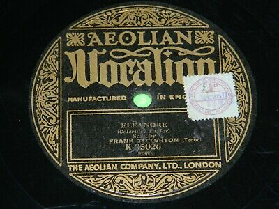 FRANK TITTERTON : Eleanore - Original 1920's UK 12  Aeolian Vocalion 78rpm 198 • 10.80£