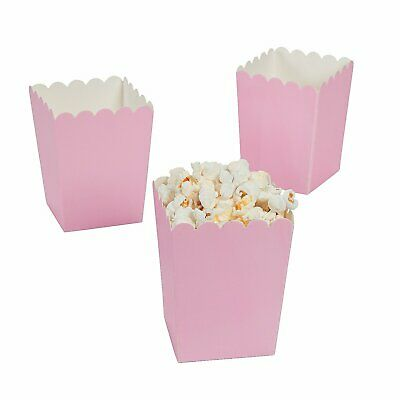 Oriental Trading 24 Mini Popcorn Boxes Light Pink Boxes • 5.99£