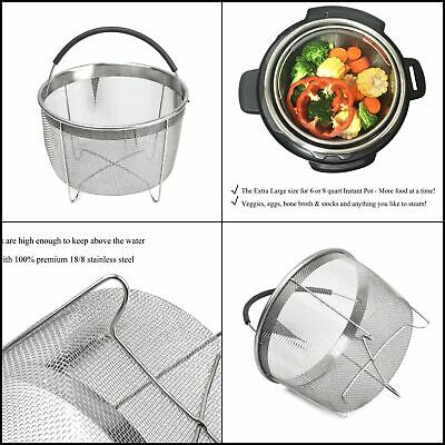 $15.99 • Buy Instant Pot Accessories 6 Quart Steamer Baskets Pressure Cooker Stainless Steel
