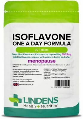Isoflavones (Soya) Formula With Kudzu & Red Clover Menopause(30 Tablets) • 6.99£