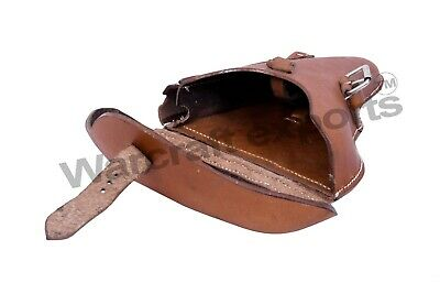 WWII GERMAN LUGER P08 Hardshell BROWN LEATHER HOLSTER • 31.99£