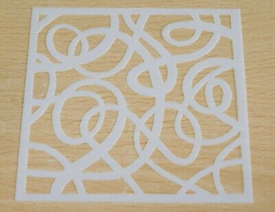 £1.99 • Buy Tangled Wire, Wool, Swirl - Texture Grunge Mixed Media Stencil Mask Template