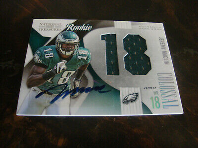 $22 • Buy 2009 Playoff National Treasures---Collosal Auto./RC/Jsy Number---#8 Maclin /50