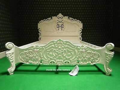 5' King Size IVORY / CREAM French Style Mahogany Oriental Rococo Bed  • 849£