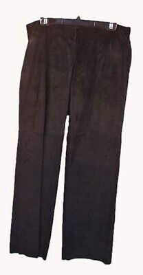 $ CDN209.74 • Buy Pants, Suede, Black, Top Quality, Original Tags On, Size 12, Side Zip, Flat Fron