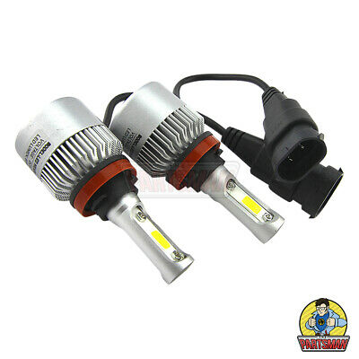 AU24.95 • Buy LED H11 Headlight Globe X2 Cob Chip Double BB Fan 34W 3400LM