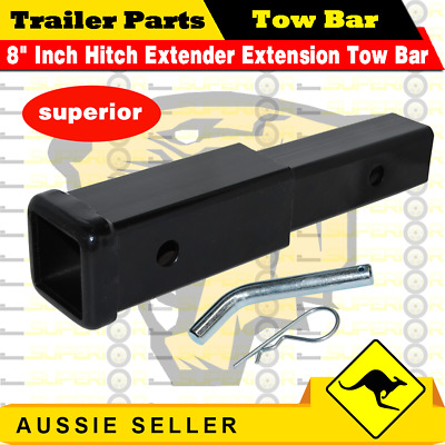 AU34.20 • Buy 8  Inch Hitch Extender Extension Tow Bar Trailer 4WD Car 2  Receiver Heavy Duty