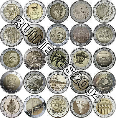 $ CDN191.14 • Buy  29 X 2 Euro Commemorative Coins 2016 - Uncirculated Coins ** Complete SET * RAR