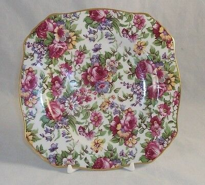 $ CDN57.30 • Buy Royal Winton SUMMERTIME Square Bread Plate 1995 MINT