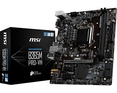 AU119.01 • Buy MSI MATX M.2 B365M PRO-VH LGA 1151 Intel 9th Gen Desktop PC Motherboard