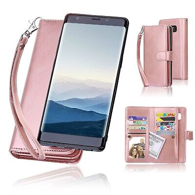 $ CDN19.52 • Buy Samsung Galaxy Note 8 9 S9 IPhone 7 8 XS X Luxury Detachable Leather Wallet Case