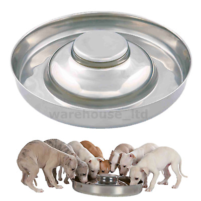 Trixie Stainless Steel Puppy Bowl Feeding Weaning Saucer - Medium Or XL Whelping • 13.49£