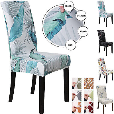 AU19.99 • Buy Stretch Dining Chair Covers Slipcover Furniture Protector 4/6 Pcs Banquet Party