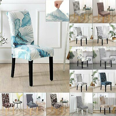 AU5.69 • Buy Stretch Dining Chair Covers Slipcover Spandex Wedding Cover 1/4/6Pcs Removable