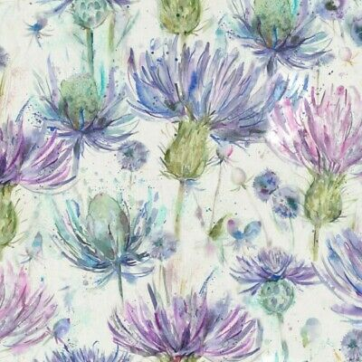 Eilan Donan Thistle 100% Cotton Fabric Voyage Curtains Cushions Crafts • 19.99£